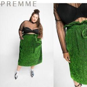 Premme Paperbag Pleat Skirt